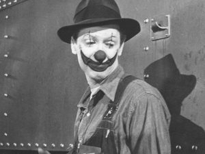 Jimmy Stewart as Buttons the Clown in The Greatest Show on Earth