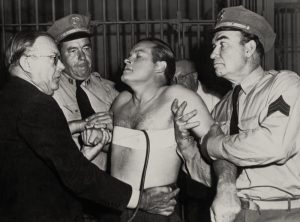 "Bob Hope on death row in ""My Favorite Brunette"""