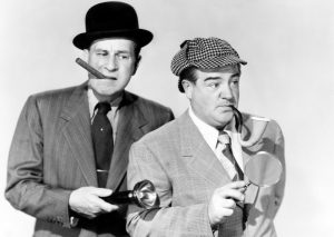 Bud Abbott and Lou Costello in Abbott an Costello Meet the Invisible Man