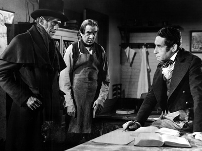 The Body Snatcher, starring Boris Karloff, Bela Lugosi, Henri Daniell