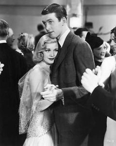 Ginger Rogers and Jimmy Steward dancing in Vivacious Lady