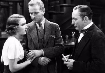 Fay Wray, Melvyn Douglas, and Lionel Atwill in The Vampire Bat