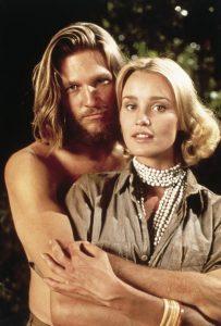 Jeff Bridges and Jessica Lange in King Kong 1976