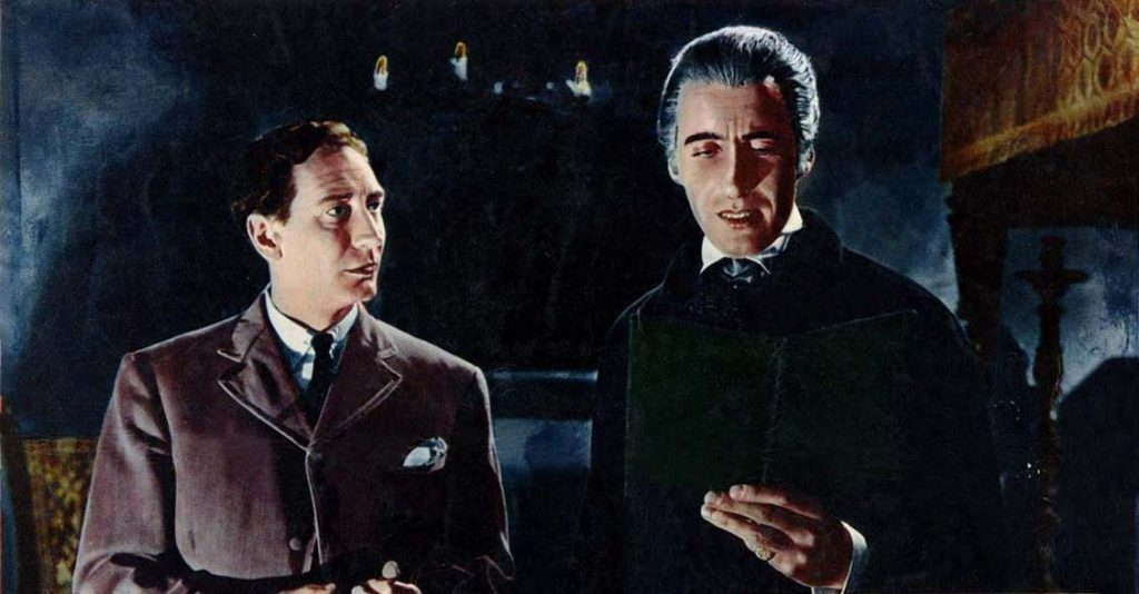 Horror of Dracula begins with Jonathon Harker, working for Count Dracula, as his librarian
