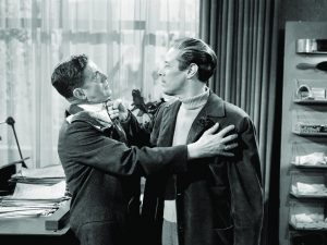Unfaithfully Yours - Rudy Valee being assaulted by Rex Harrison