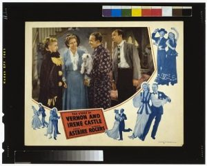 Photo still from The Story of Vernon and Irene Castle, with Ginger Rogers, Fred Astaire, Walter Brennan