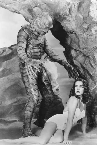The Creature From The Black Lagoon 24x36 Poster Julia Adams with Creature