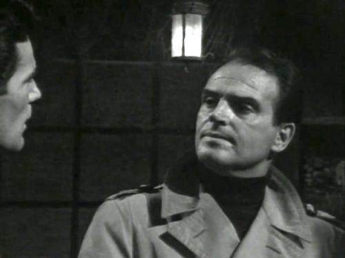Dark Shadows episode 215 - At the Blue Whale, Willie refuses to tell Jason where he's been. Jason notices blood on Willie's sleeve.