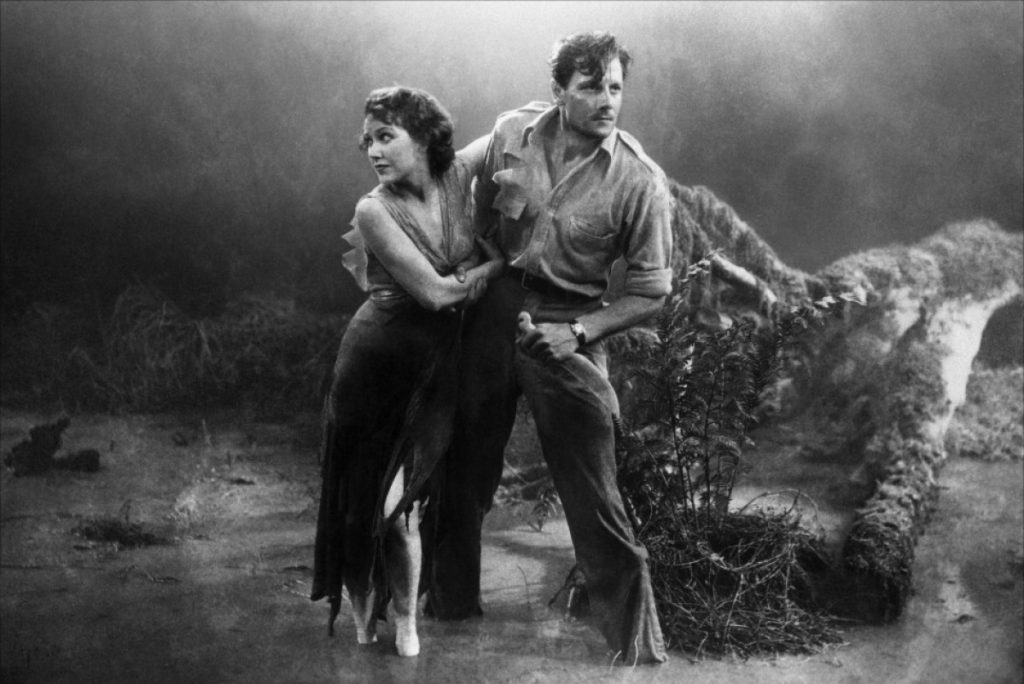 Fay Wray and Joel McCrea in The Most Dangerous Game (1932)