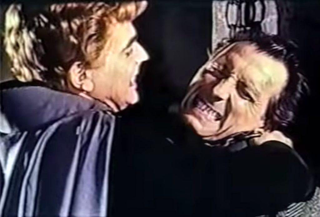 Battle between Baron Meinster and Van Helsing