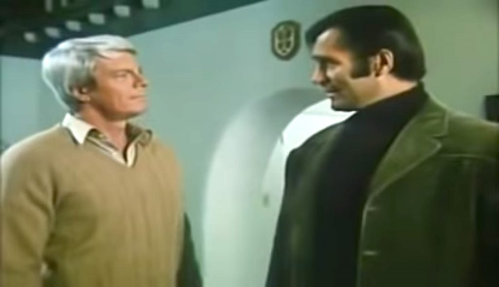A conflict of world views in Scream of the Wolf between Peter Graves and Clint Walker's characters