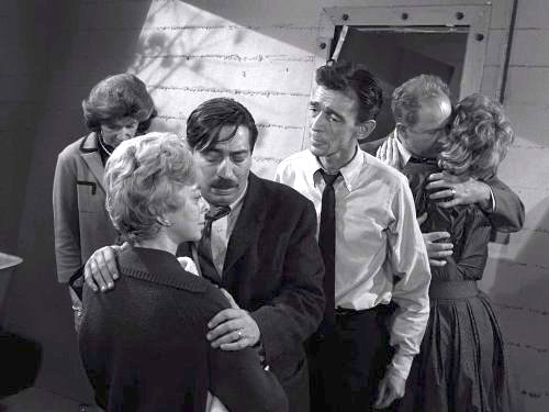 The Shelter - When a nuclear attack appears imminent, several suburban friends and neighbors fight over control of a single bomb shelter. The Twilight Zone season 3