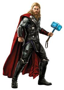 Thor Odinson with Mjolnir in Avengers: Age of Ultron