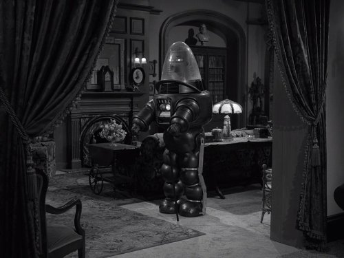 Uncle Simon - The Twilight Zone season 5, with Robbie the Robot