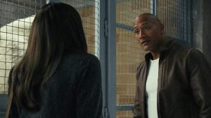 "About your people skills, Davis -- from Rampage, starring Dwayne ""The Rock"" Johnson"