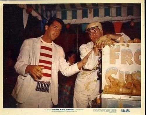 Dean Martin and Jerry Lewis as carnies