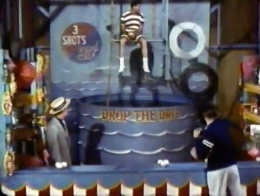 Jerry Lewis about to be dunked in the tank