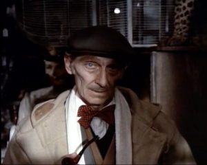 "Peter Cushing as the proprietor of the Temptations antique shop in ""From Beyond the Grave"""