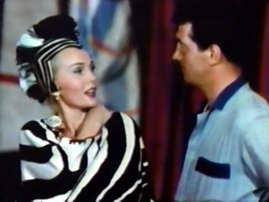 Saadia (Zsa Zsa Gabor) with Pete (Dean Martin) - she knows what she wants …