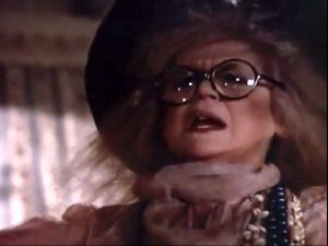 "Margaret Leighton as the zany psychic in ""From Beyond the Grave"""