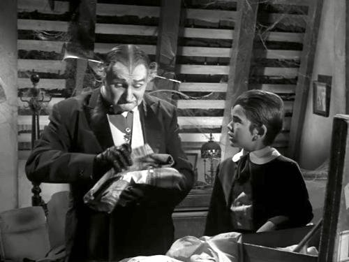 14. Grandpa Leaves Home - Grandpa (Al Lewis) and Eddie Munster (Butch Patrick)