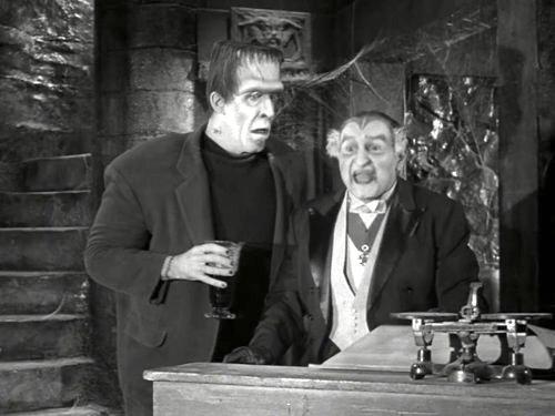 Herman's Rival - Herman (Fred Gwynne) and Grandpa (Al Lewis)