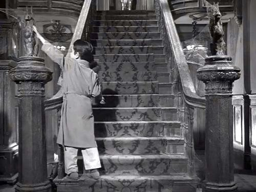 Love Locked Out - Eddie Munster (Butch Patrick) about to open the staircase for Spot