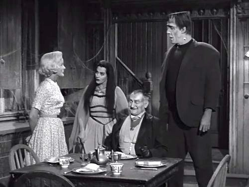 Marily, Lily, Grandpa, and Herman Munster